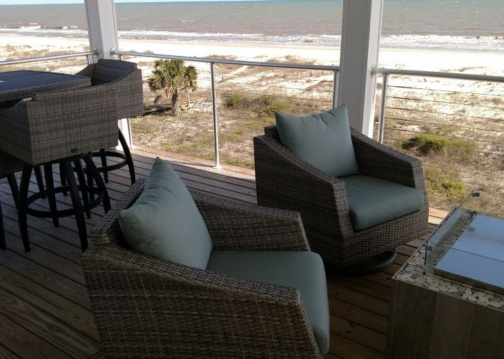 New, Gulf Front beach home with open concept and elevator. #48