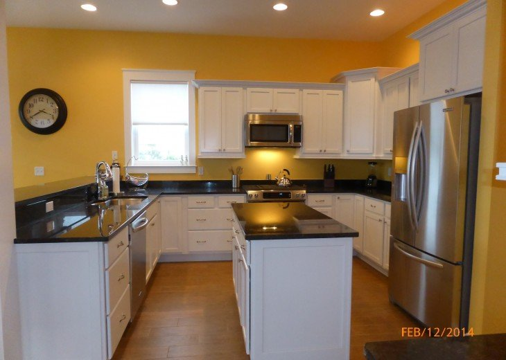 Fully stocker kitchen--rave reviews from vacationers!