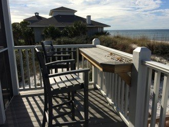 Gulf-front deck breakfast/happy hour bar