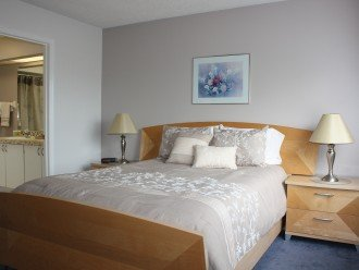 Master bedroom with queen-size bed