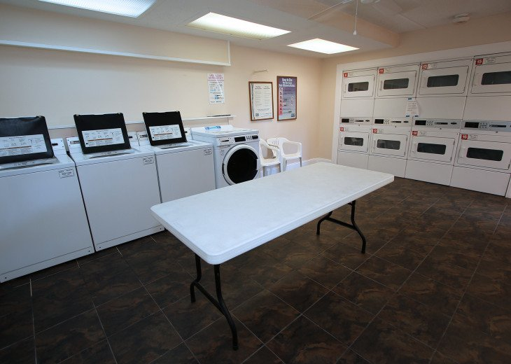 On Site Laundry Room Clean & Convenient! Located in all buildings!