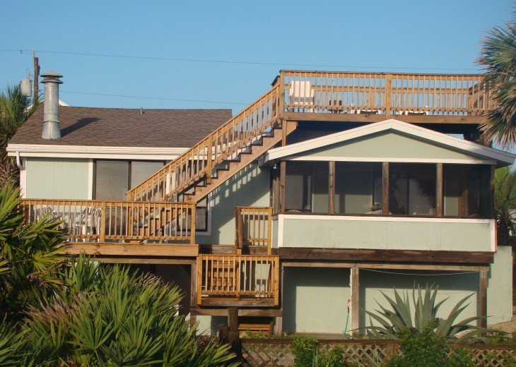 OCEANFRONT RENTAL HOME ~ St. Augustine Beach ~ 4BR-3BA NO SERVICE FEES! #2