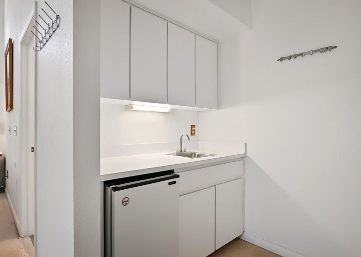 Master Bedroom Kitchenette with fridge.
