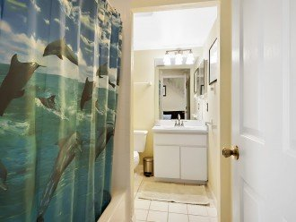 Downstairs shared bathroom.