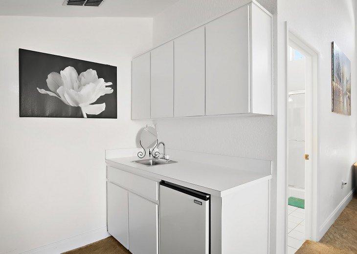 Master Bedroom Kitchenette with fridge.