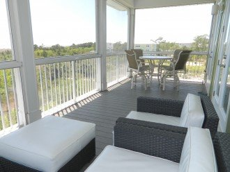 Living deck is nicely furnished