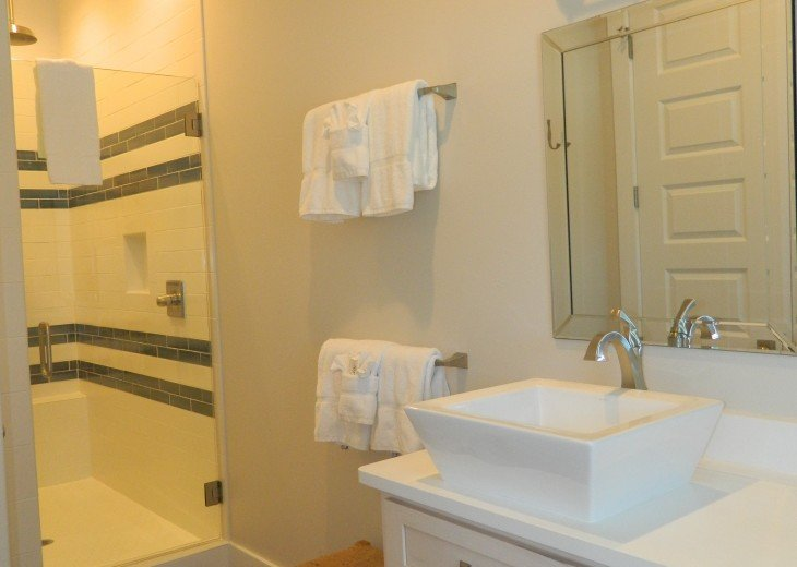 King master bath with double vessel sinks