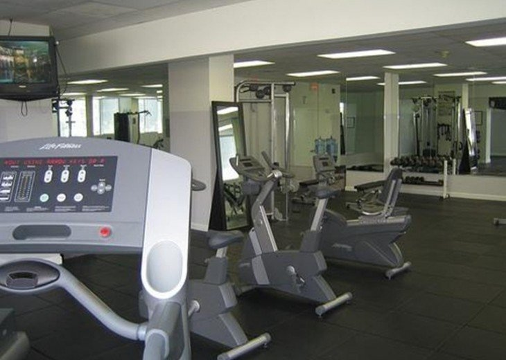 Gym with new equipment.