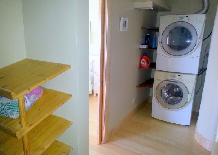 Master bath washer and dryer