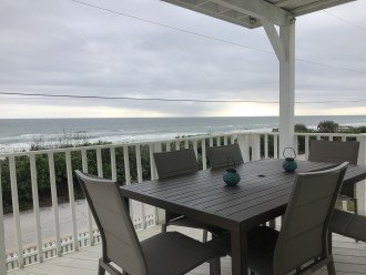 Amazing views from the outdoor covered dining on the main deck!