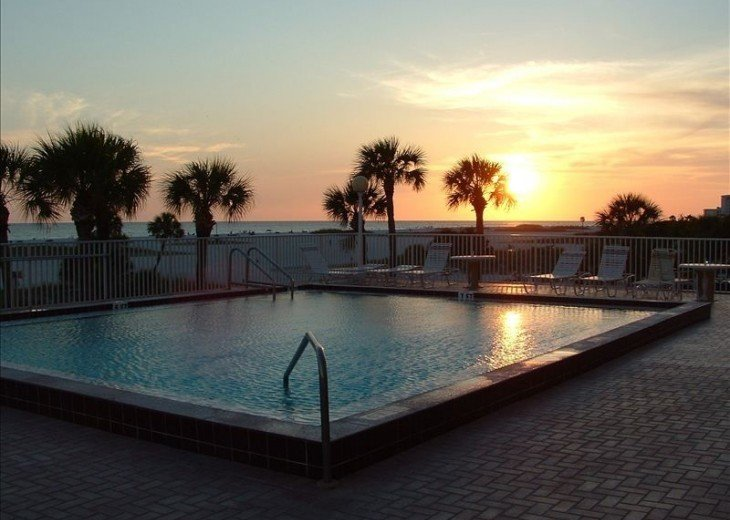 Sunset from the heated pool deck