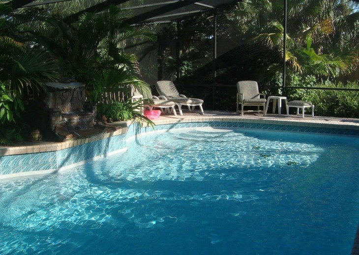 pool home, tropical setting #11