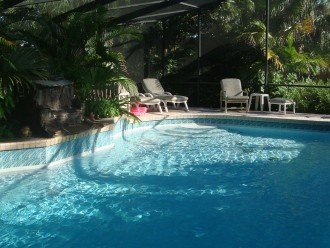 pool home, tropical setting #1