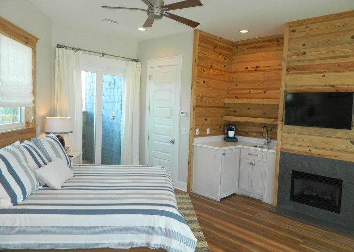 King Master Suite has an indoor & outdoor shower!