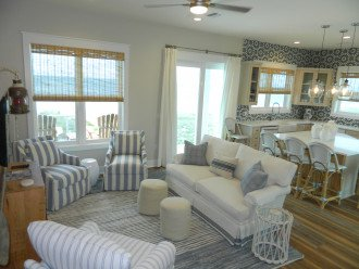 Living/Kitchen area opens to deck