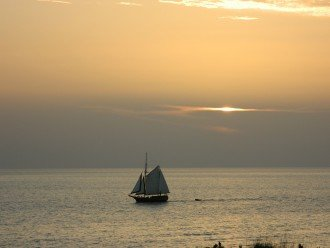 Sailboat sailing by