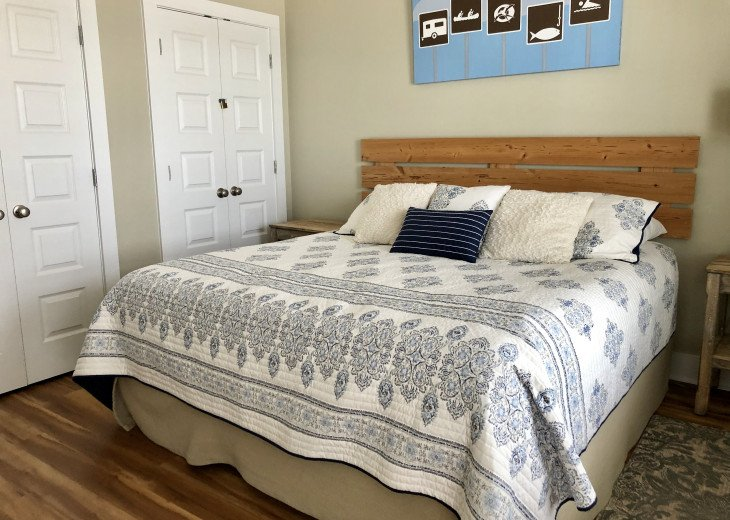 King Master #2 with new Bedding. Opens to Private Deck