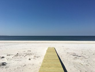 Easy beach access. Taken April 2019