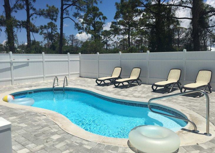 Private pool heated seasonally