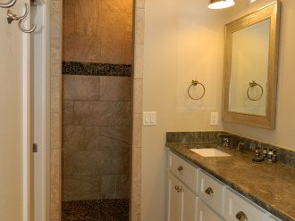 King master 2 private bath with walkin shower & double sink vanity