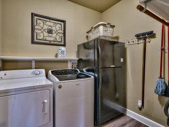 Laundry room with 2nd full-size fridge