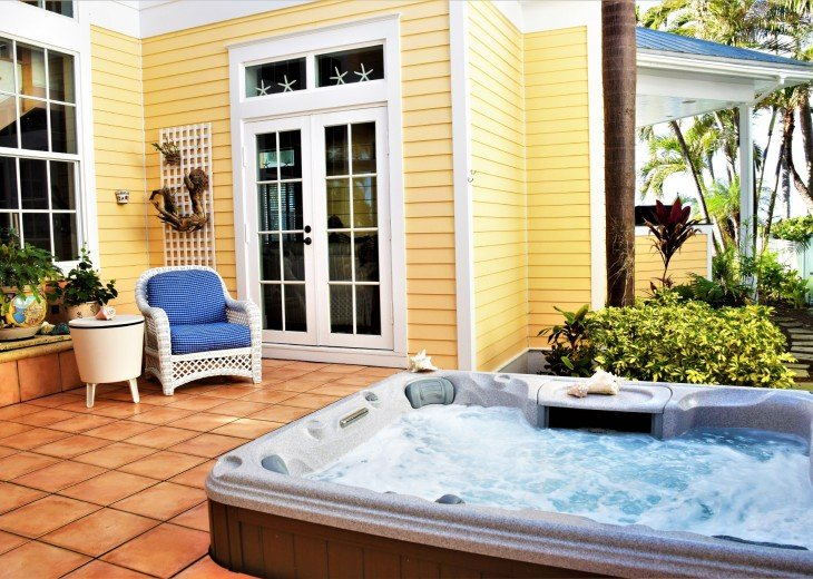 Second Jacuzzi is located in private courtyard.