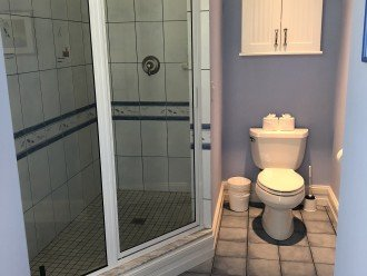 Shower room is shared with 2 guest bedrooms.