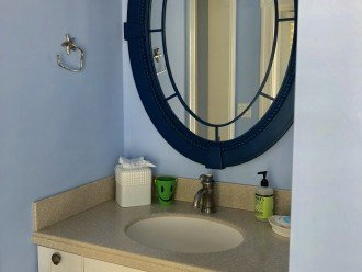 Each guest bedroom has its own private vanity and share shower/toilet room