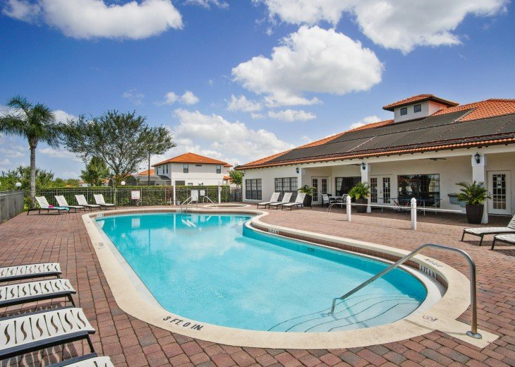 South Facing pool/spa on gated resort, 6 miles from Disney #21