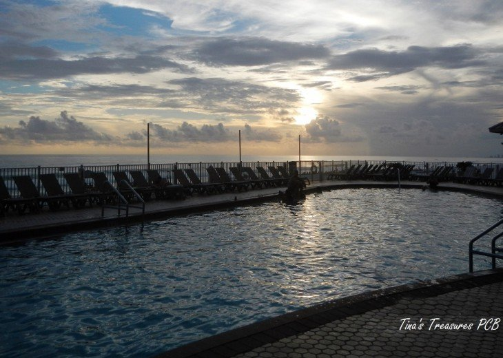 View of pool deck
