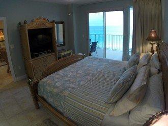 Master Bedroom Suite-King Bed, Vizio HD Smart TV, DVD player & balcony access