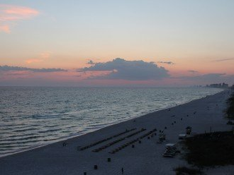 View from balcony of beach and Gulf of Mexico
