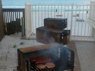 BBQ Grills on pool deck