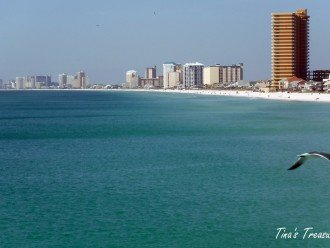 View from Gulf of Mexico looking at Treasure Island Resort