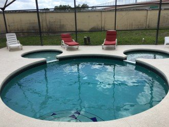 The Mickey pool is the center piece of the home!