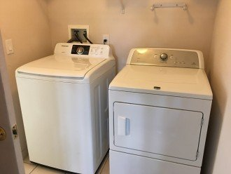 And there is a modern washer and dryer.
