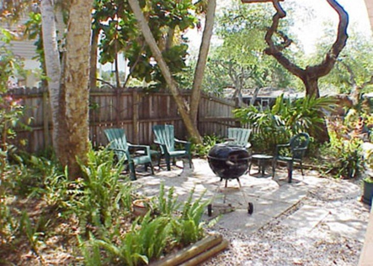 """""""SITTING ON THE DOCK OF THE BAY"""" """"Coastal Courtyard"""" 6151 Midnight Pass Rd. #19"""
