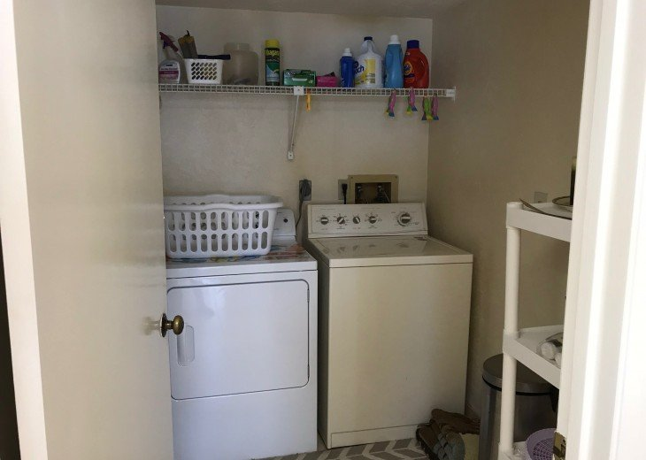 FULL SIZE WASHER AND DRYER IN UNIT