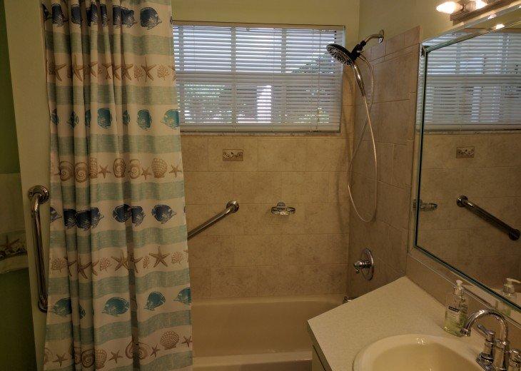 Master Bathroom with handicap grab bars