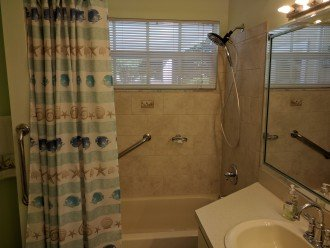 Master Bathroom with handicap grab bars