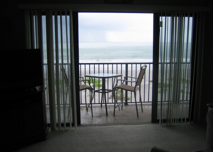 From family room to balcony, beach, ocean is less than 300 ft. away, enjoy!