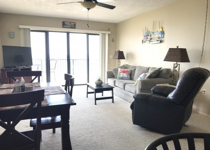 Family room from kitchen.