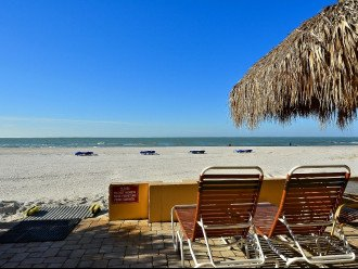Tiki sundeck beach view