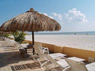 Tiki table beach view