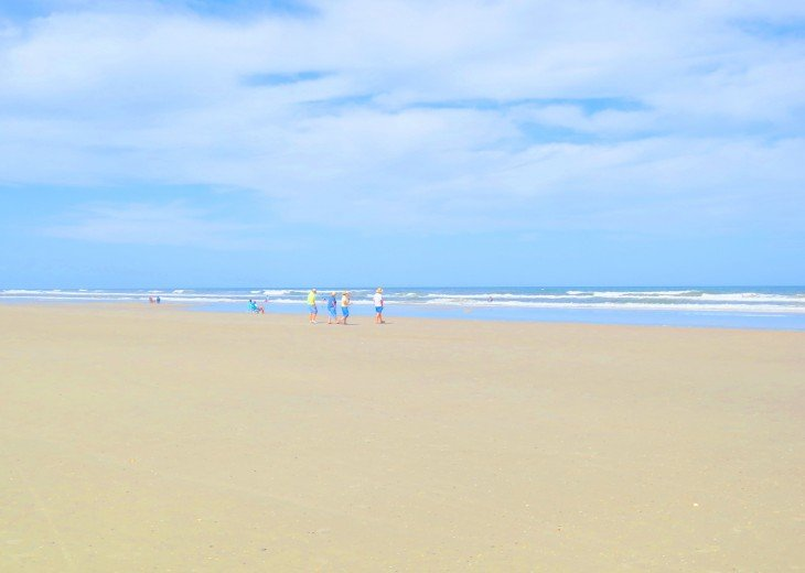 Miles of beautiful white sandy beach
