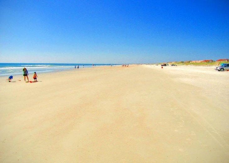 Miles of white sand beach at Ocean Village Club
