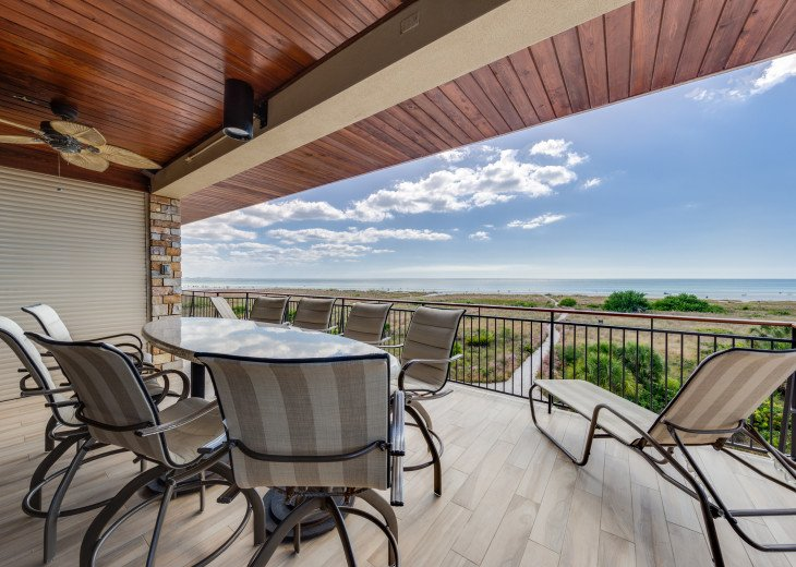 The Seascape – 8BR/9BA Beachfront, Heated Shared Pool, Private Access to Beach #106