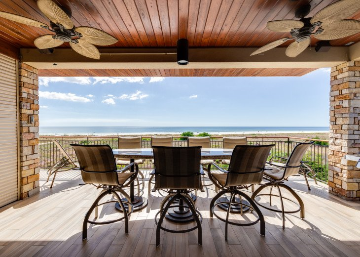 The Seascape – 8BR/9BA Beachfront, Heated Shared Pool, Private Access to Beach #105