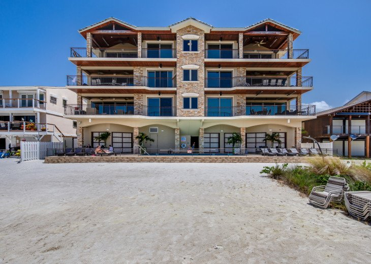 The Seascape – 8BR/9BA Beachfront, Heated Shared Pool, Private Access to Beach #112