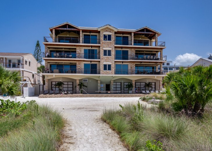 Ocean's Edge- 4BR/4.5BA Beachfront Condo, Heated Pool, With Private Beach Access #65